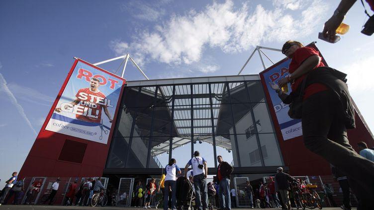 L'Opel Arena de Mayence prête à accueillir l'AS Saint-Etienne. (? ALEX DOMANSKI / REUTERS / X02765)