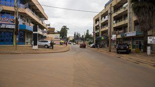 Les rues vides de la capitale rwandaise, Kigali, en plein confinement le 4 avril 2020 (CYRIL NDEGEYA / ANADOLU AGENCY)