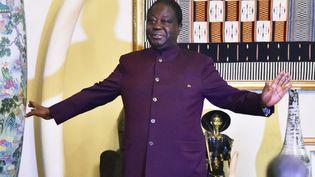 L'ex-président Henri Konan Bédié dans sa résidence de Daoukro (Côte d'Ivoire), le 19 avril 2018. C'est le principal opposant à Alassane Ouattara. (SIA KAMBOU / AFP)
