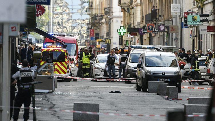 Explosion d'un colis piégé à Lyon le 25 mai 2019. (J PHILIPPON / MAXPPP)