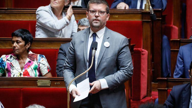 Luc Carnouvas lors d'une séance de questions au gouvernement à l'Assemblée nationale, le 9 juillet 2019. (THOMAS PADILLA / MAXPPP)