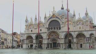 """Italie : nouvelle """"acqua alta"""" à Venise, sous les eaux même en été (France 2)"""