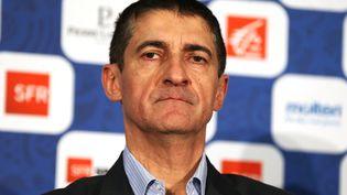 Jean-Pierre Siutat, président de la Fédération française de basket, 27 novembre 2017. (CHARLY TRIBALLEAU / AFP)