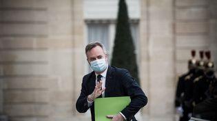 Le secrétaire d'Etat chargé du Tourisme, Jean-Baptiste Lemoyne, à l'Elysée, le 12 février 2021. (ARTHUR NICHOLAS ORCHARD / HANS LUCAS / AFP)