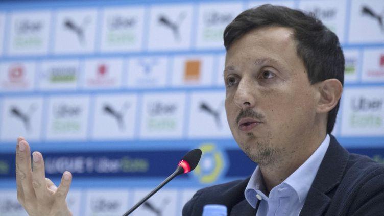 Pablo Longoria déplore les incidents qui ont entâché la rencontre entre Nice et Marseille. (CHRISTOPHE SIMON / AFP)