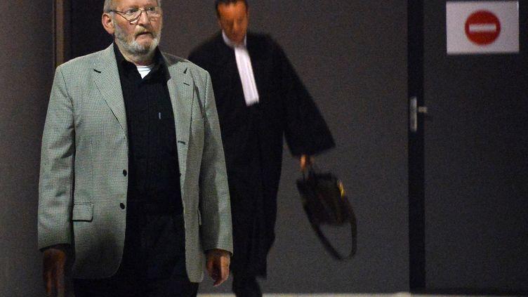 Jean-Claude Mas, le 14 mai 2013, après le réquisitoire de son procès, à Marseille. (GERARD JULIEN / AFP)