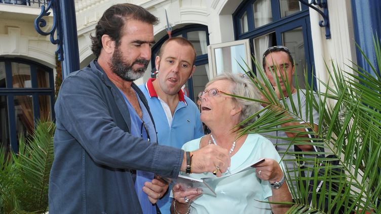 Eric Cantona à son arrivée à Dinard  (PHOTOPQR/LE TELEGRAMME)