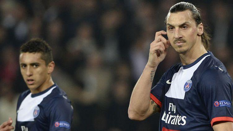 Les deux Parisiens Marquinhos et Zlatan Ibrahimovic