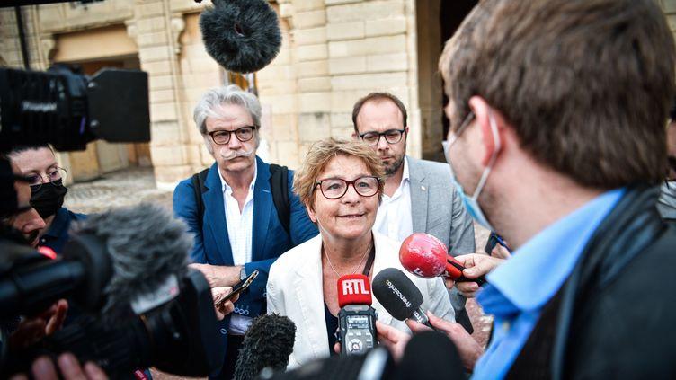 Marie-Guite Dufay, la présidente PS de la région Bourgogne-Franche-Comté, le 20 juin 2021. (MAXPPP)