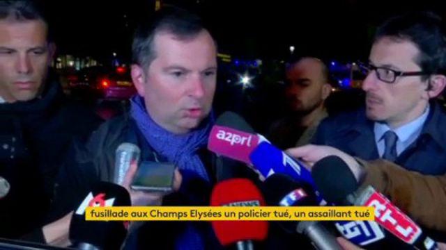 """VIDEO. Fusillade à Paris : """"Il n'y avait pas de menace particulière contre les Champs-Elysées"""", selon le porte-parole du ministère de l'Intérieur"""