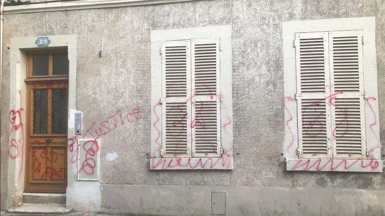 La permanence du député LREM Loïc Kervran à Bourges (Cher) a été dégradée le 12 août 2019. (CAPTURE TWITTER / LOIC KERVRAN)