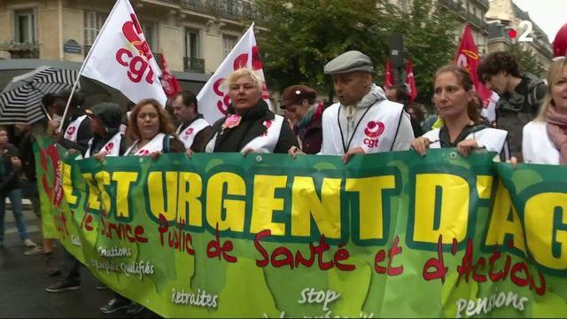 Retraites : la mobilisation des aide-soignants contre la réforme