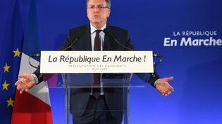 Le secrétaire général du parti d'Emmanuel Macron, Richard Ferrand, à Paris, le 11 mai 2017, lors de l'annonce des investitures pour les législatives. (ERIC FEFERBERG / AFP)