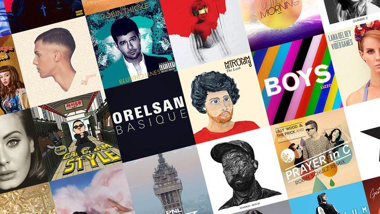 Vous avez désigné les dix chansons qui ont marqué la décennie 2010-2019 parmi une liste demorceaux. (DR)
