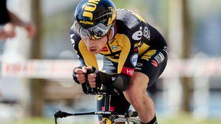 Primoz Roglic remporte la première étape du Tour du Pays basque, lundi 5 avril. (ION ALCOBA BEITIA/SHUTTERSTOCK/SIPA / SHUTTERSTOCK)