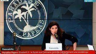 Capture d'écran de franceinfo en édition spéciale sur le dossier Paradise Papers. (MAXPPP)