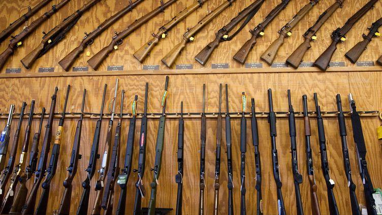 Des armes exposées lors d'un salon à El Paso, au Texas, le 13 mars 2011. (AFP)