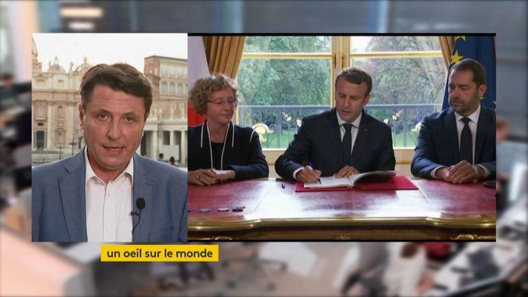 """Chronique internationale du 18/06/2018, """"un oeil sur le monde"""". (FRANCEINFO)"""