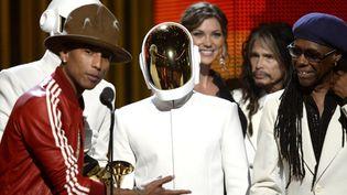 Daft Punk, Pharrell Williams et Nile Rodgers aux Grammy Awards 2014  (Kevork Djansezian / Getty Images North America / AFP)
