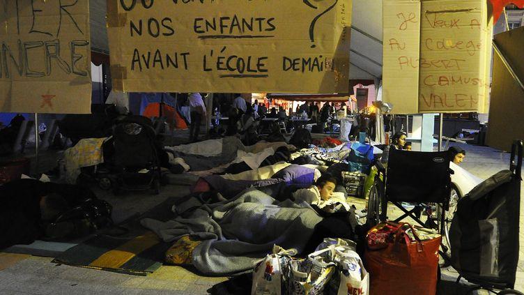 A Clermont-Ferrand, 362 personnes ont dormi dans la rue faute de places d'hébergement d'urgence, dans le nuit du lundi 2 au mardi 3 septembre 2013. (MAXPPP)
