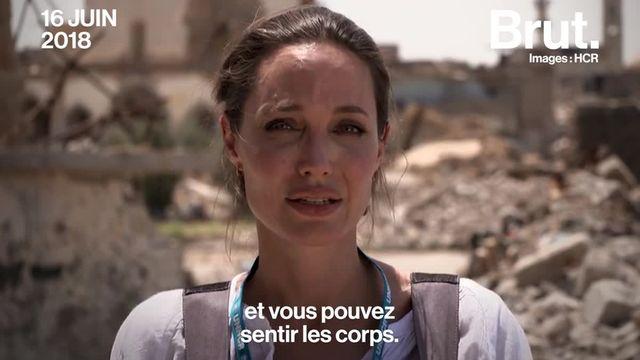"""""""Ces personnes ont tout perdu""""…La bataille de Mossoul, en Irak, a été particulièrement sanglante. Un an après, Angelina Jolie s'est rendue dans la ville et le constat est alarmant."""