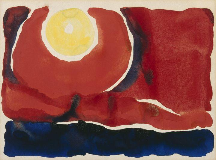 "Georgia O'Keeffe, ""Evening Star No. VI"", 1917, Georgia O'Keeffe Museum, Santa Fe. Gift of the Burnett Foundation. Courtesy Georgia O'Keeffe Museum, Santa Fe (© Georgia O'Keeffe Museum / Adagp, Paris, 2021)"