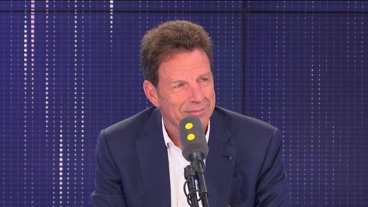 Le président du Medef était l'invité de franceinfo jeudi 5 septembre. (FRANCEINFO / RADIOFRANCE)