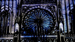 Rosace illuminée de Notre-Dame de Strasbourg  (Culturebox/France3)