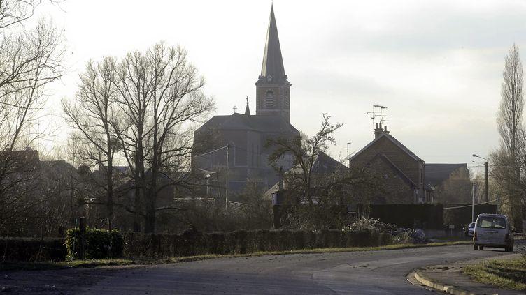 Le village de Pont-sur-Sambre (Nord), le 27 février 2018. (BELLOUMI / MAXPPP)