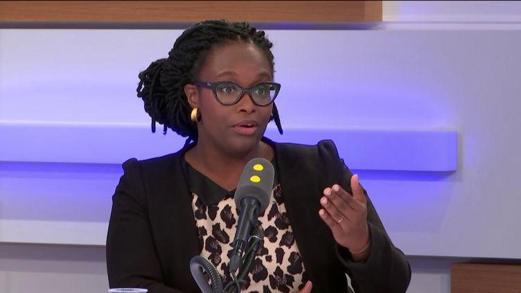 Sibeth Ndiaye, porte-parole du gouvernement, invitée de franceinfo, le 12 décembre 2019. (FRANCEINFO / RADIOFRANCE)