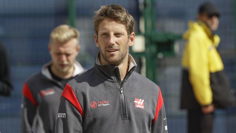 Le pilote français Romain Grosjean (Haas). (FREDERIC LE FLOC H / DPPI MEDIA)