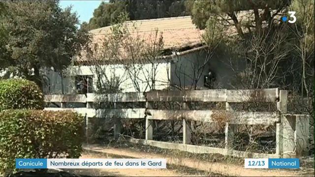 Canicule : le Gard touché par des dizaines d'incendies