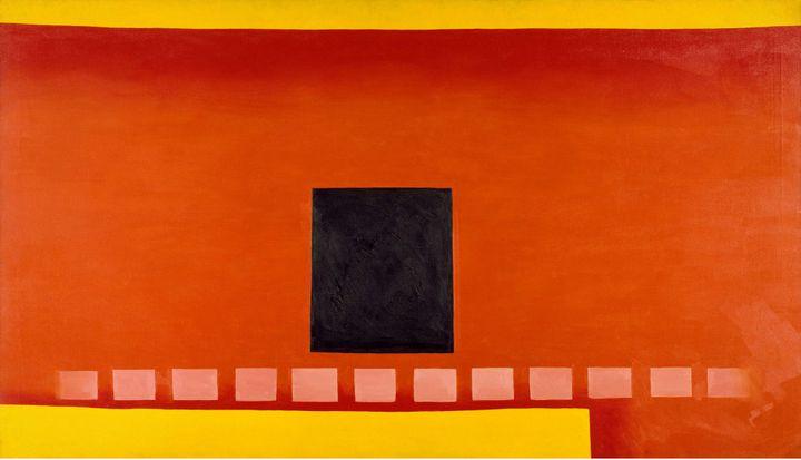 "Georgia O'Keeffe ""Black Door with Red"", 1954, Chrysler Museum of Art, Norfolk, Virginie. Bequest of Walter P. Chrysler, Jr. (Image Chrysler Museum of Art, Norfolk, VA © Georgia O'Keeffe Museum / Adagp, Paris, 2021)"
