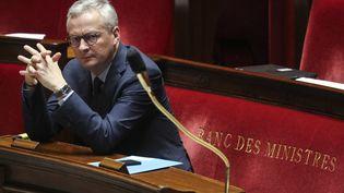 Le ministre de l'Economie, Bruno Le Maire, le 19 mars 2020 à l'Assemblée nationale. (LUDOVIC MARIN / AFP)