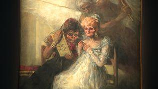 """""""Les Vieilles"""" de Francisco de Goya - Collections du Palais des Beaux-Arts de Lille. (CAPTURE D'ÉCRAN FRANCE 3 / M. Huguet)"""