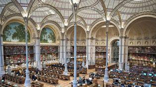 Le site Richelieu de la BNF ouvre ses portes au public, après un vaste programme de travaux débuté en 2010. (NICOLAS MESSYASZ / SIPA)