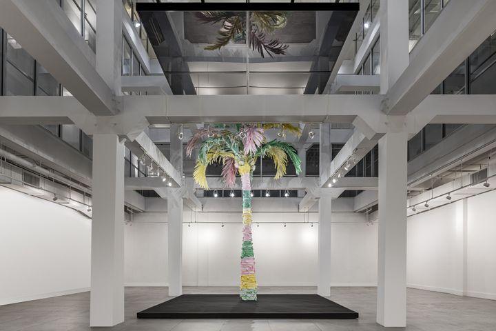 Palm Tree I, oeuvre d'art du créateur américain Thom Browne dévoilée le 5 décembre 2019 lors de l'Art Basel Miami Beach (KRIS TAMBURELLO)