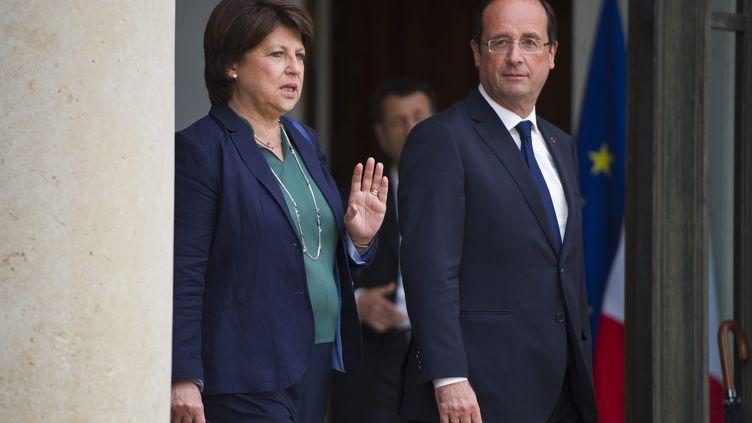 Martine Aubry et François Hollande, le 6 juin 2012, à l'Elysée. (  MAXPPP)
