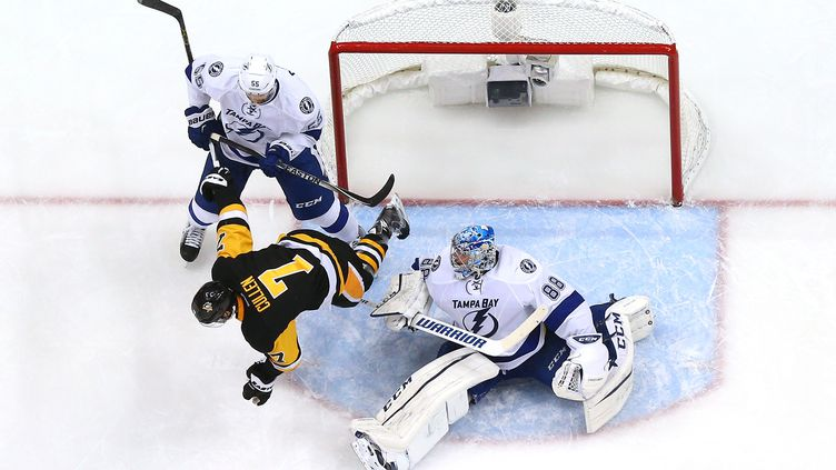 Pittsburgh face à Tempa (BRUCE BENNETT / GETTY IMAGES NORTH AMERICA)