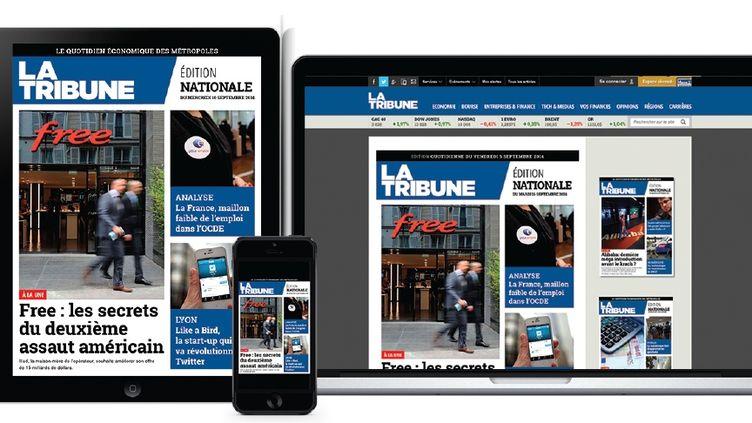(La nouvelle formule du quotidien numérique est lancée aujourd'hui © La Tribune)