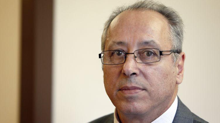 Albert Chennouf, le père d'Abel Chennouf, tué à Montauban (Tarn-et-Garonne) le 15 mars 2012 par Mohamed Merah. (KENZO TRIBOUILLARD / AFP)