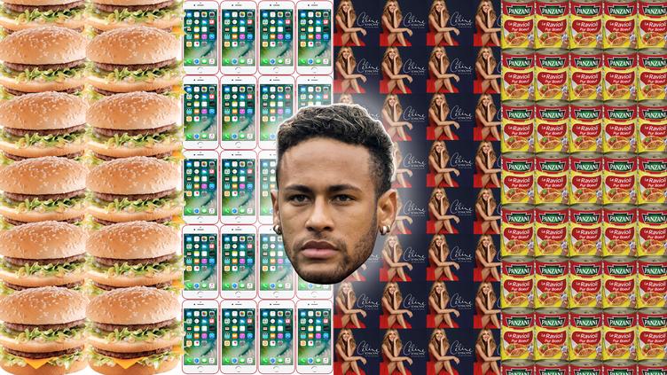 Neymar a rejoint officiellement le PSG, le 4 août 2017, pour la somme record de 222 millions d'euros. Mais au fait, ça correspond à quoi, un montant pareil ? (FRANCEINFO)