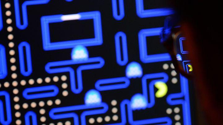 Le jeu vidéo Pac-Man (1980) exposé au Musée d'Art Moderne de New York (MoMA)  (EMMANUEL DUNAND / AFP)