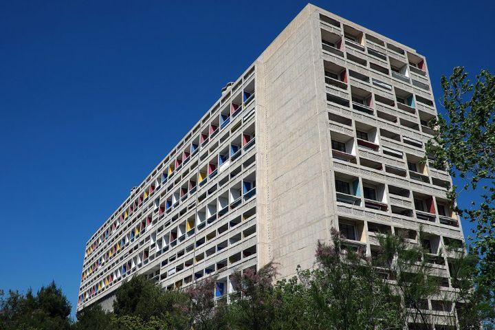 La cité Radieuse à Marseille (1947-52) par Le Corbusier  (BORIS HORVAT / AFP)