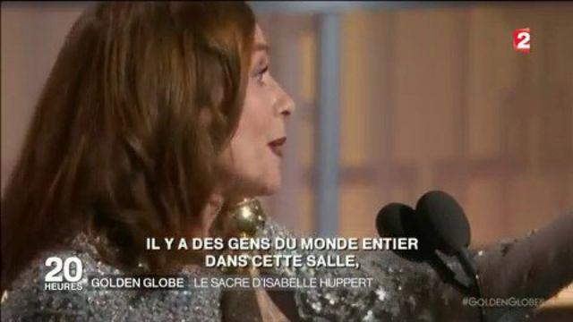 Golden globe : le sacre d'Isabelle Huppert