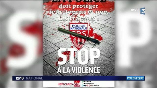 Police : la CGT publie une affiche pour dénoncer les violences policières