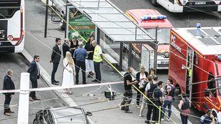 Une agression au couteau s'est déroulée près de la station de métro Laurent Bonnevay à Villeurbanne (Rhône) le 31 août 2019. (MAXPPP)