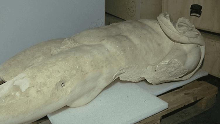 Un des vestiges bientôt exposées au MuséAl d'Alba-La-Romaine  (Culturebox - capture d'écran)