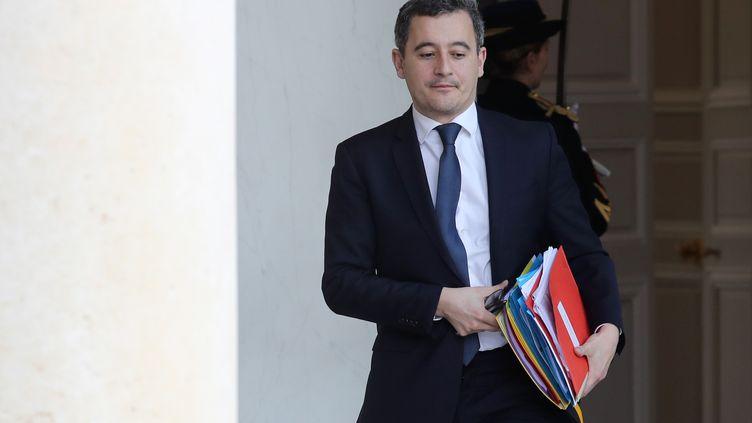 Gérald Darmanin,ministre de l'Action et des Comptes publics, à la sortie de l'Elysée (Paris), le19 février 2020.  (LUDOVIC MARIN / AFP)