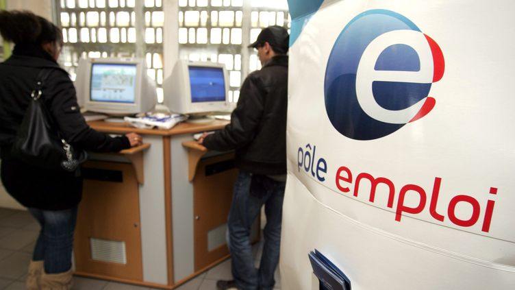 Une agence Pôle emploi à Mulhouse (Rhin Supérieur), le 31 mars 2009. (MAXPPP)